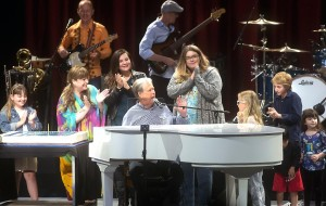Brian Wilson and his family at the Greek Theatre concert in Los Angeles.